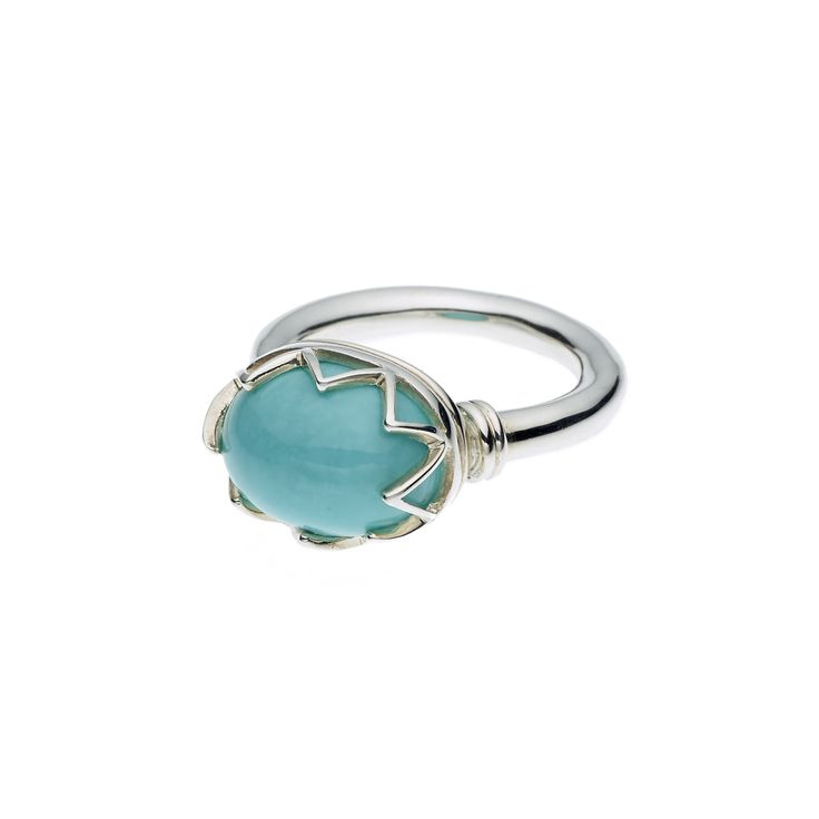 PUSHMATAAHA // WARRIOR MONARCH RING in American Turquoise with 925 Sterling Silver