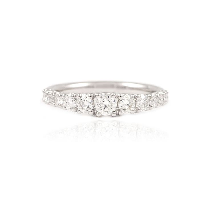 The Paul Sheeran Eternity ring collection | New Arrivals | A classy eternity ring with eleven graduated round brilliant cut diamonds set in a platinum band