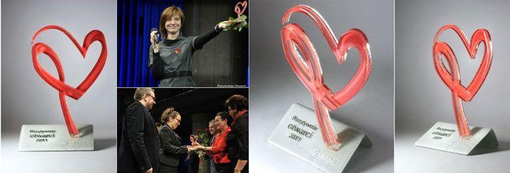 Bespoke glass awards #fusing #heart #glass #awards