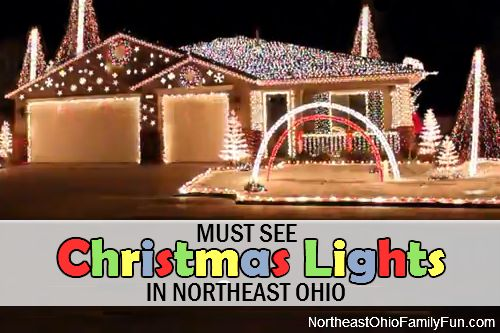 Must See Christmas Light Displays across Northeast Ohio.  Houses with 1,000s of Christmas lights set to music and many more displays you won't want to miss this year!