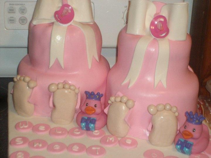 Twin Baby Girl Cakes