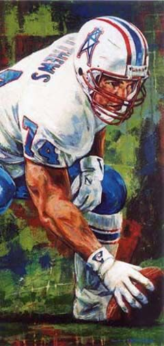 Bruce Matthews, Houston OIlers by Robert Hurst.