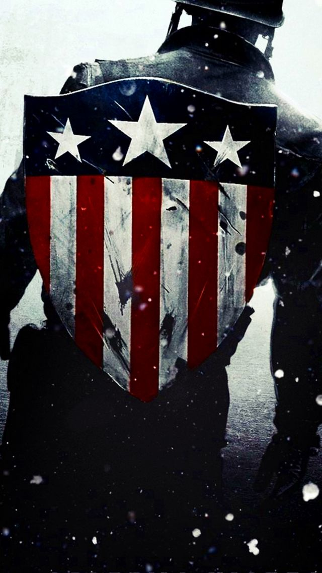 Captain America Flag Shield iPhone 5 Wallpapers