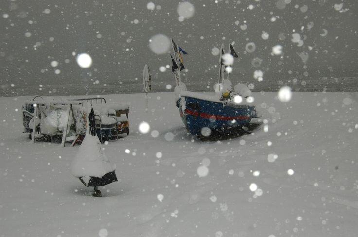 il mare con la neve