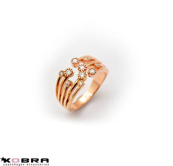 """Britney"" rose guld ring med sten"