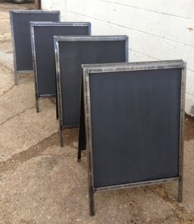 A board with chalkboard faces