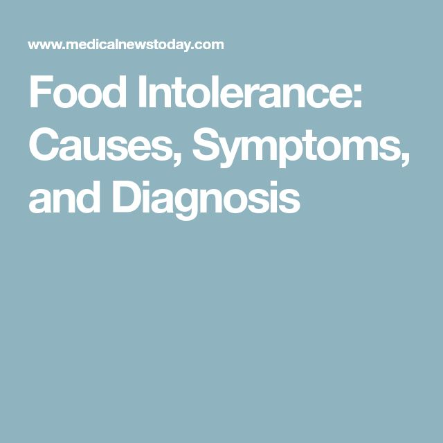 Food Intolerance: Causes, Symptoms, and Diagnosis