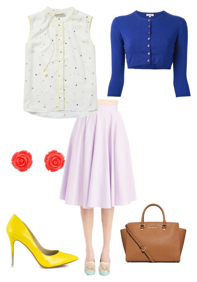 """""""Easter Chic"""" by kaitlynlucas05 ❤ liked on Polyvore featuring Scotch & Soda, BCBGeneration, P.A.R.O.S.H., MICHAEL Michael Kors and plus size clothing"""