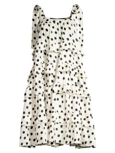f05b0683de80c PAPER London - Emely Polka Dot Silk Tiered Dress - saks.com ...