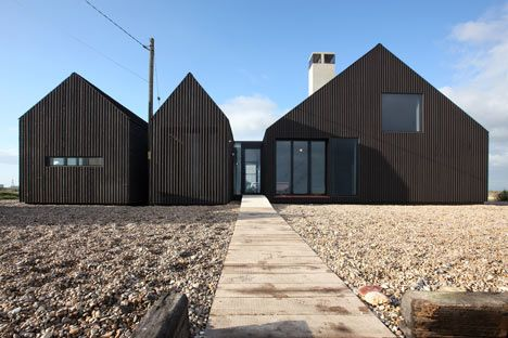another N.Hemisphere eaveless collection of gables: e.g. of varying roof pitches. Shingle House by NORD Architecture