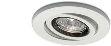 Cool tilting recessed lighting allows you to focus on different areas for different moods!
