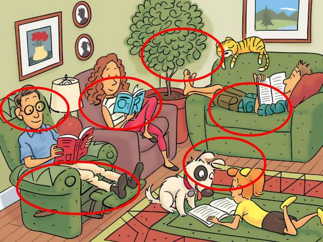 Six words are hidden in these photos. can you find them? Source: Highlights.com