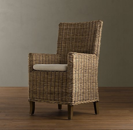 Wicker Dining Chair From Restoration Hardware Home