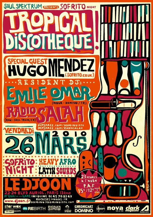 Illustration – Art – Design // Lewis Heriz » Soul Spektrum / Sofrito Tropical Discotheque