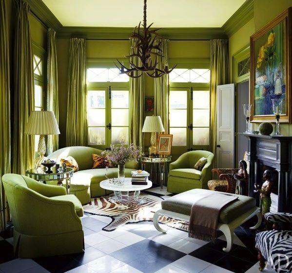Inside the 'Greenest' House in New Orleans' French Quarter.....I Love Green, and this is Gorgeous!
