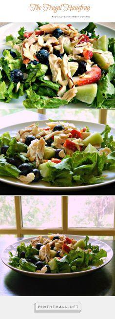 Chicken & Fruit Salad with Raspberry Dressing | Frugal Hausfrau