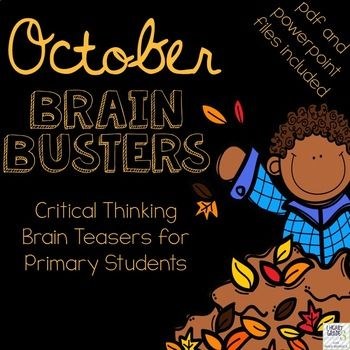 Do you find your homeroom periods to be hectic? Are your students trying to get your attention, speaking too loudly, or not participating in the morning routine like you would like them to? Do you have to juggle attendance, homework, lunch money, and notes from home? If you have answered yes to just one of these questions, October Brain Busters just might be a little piece of calm that you need to start your day.