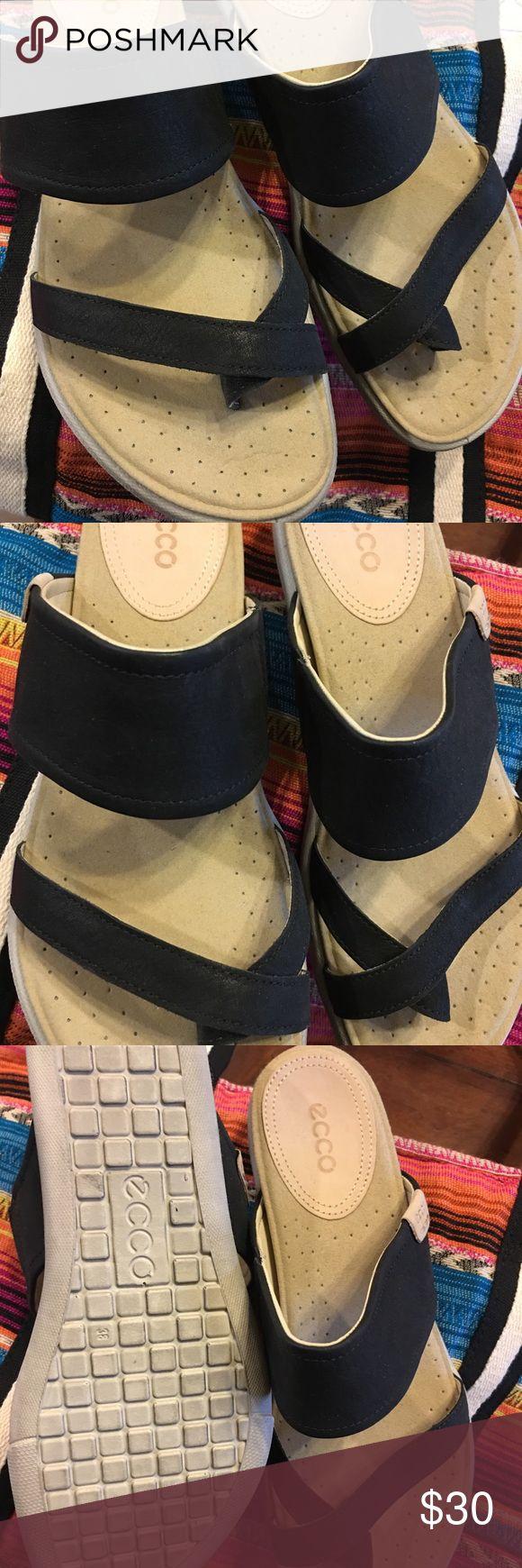 Black Ecco Sandals Ecco Damara sandal worn once like new..  Smoke free home ecco Shoes Sandals