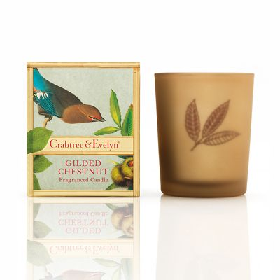 Crabtree & Evelyn Gilded Chestnut Small Poured Candle