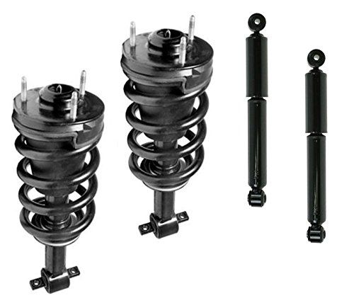 DTA 70001 Full Set 2 Front Complete Struts with Springs and Mounts + 2 Rear Shocks 4-pc Set Excludes Models With Electronic Suspension Fits 2007-2013 Avalanche Yukon 2007-2012 Surburban Tahoe. For product info go to:  https://www.caraccessoriesonlinemarket.com/dta-70001-full-set-2-front-complete-struts-with-springs-and-mounts-2-rear-shocks-4-pc-set-excludes-models-with-electronic-suspension-fits-2007-2013-avalanche-yukon-2007-2012-surburban-tahoe/