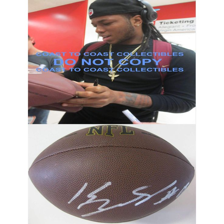 Kelvin Benjamin, Carolina Panthers, Florida State, FSU, Signed, Autographed, NFL Football, a COA with the Proof Photo of Kelvin Signing the Football Will Be Included