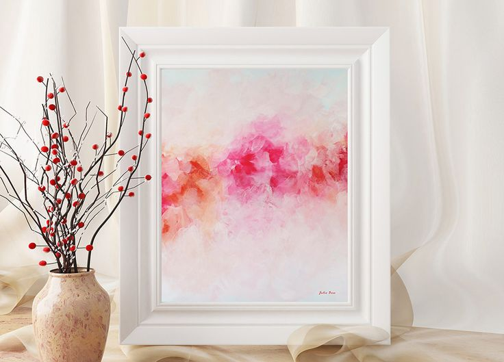 """Peony"" is one of many popular downloadable prints. Check my site to see current promotions. #instantdownload #printables #printableart #wallart #artprints #homedecor #colorfulart #walldecor #digitalprint #montrealartist #peony #peonies #pink #floralart"