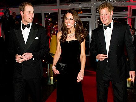 Duke and Duchess of Cambridge Launch Charitable Website Prince Harry accompanied them to black tie launch
