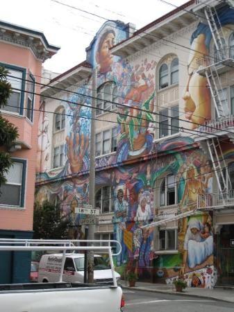 San Francisco landmark. Women's Building, Mission District, San Francisco, CALIFORNIA.