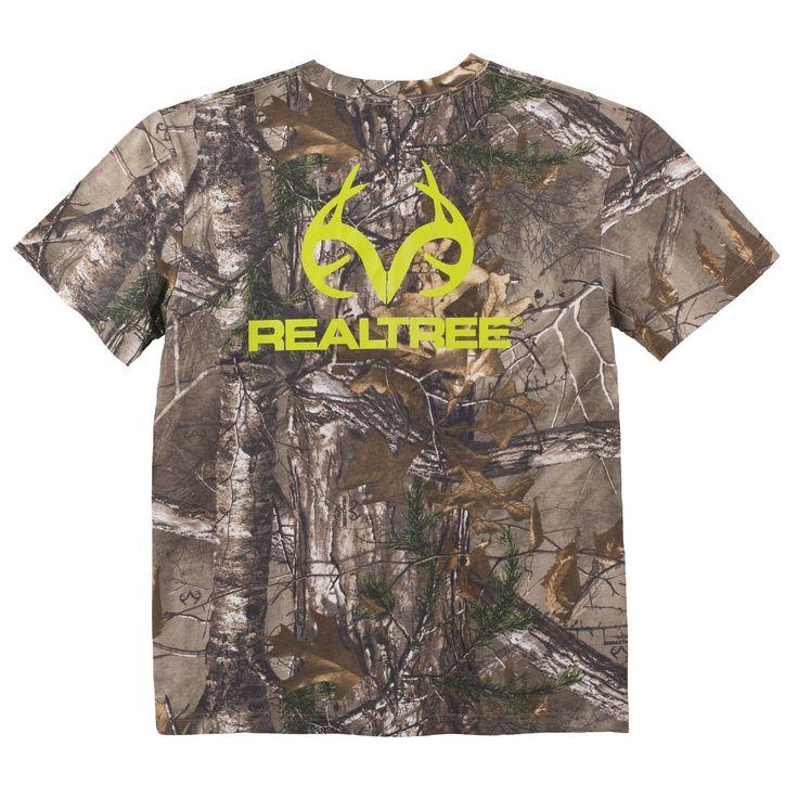 Realtree Men's Neon Green Logo Xtra® Camo Short Sleeved T-Shirt