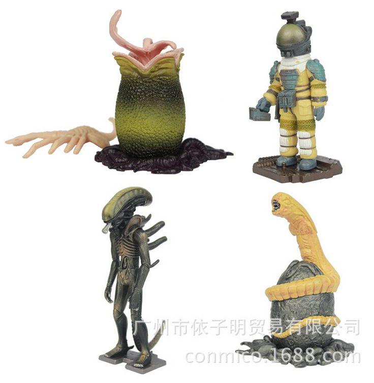 3шт / комплект чужой против хищника игрушки действие рисунок пвх brinquedos CP694