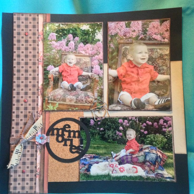 3 picture scrapbook layout