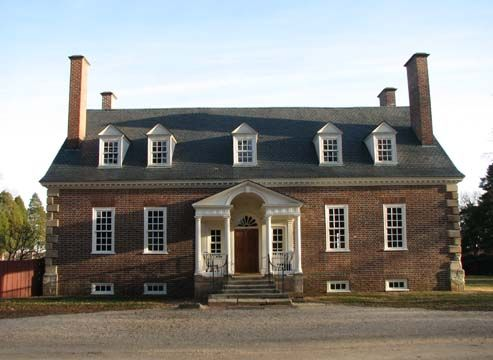 Gunston Hall, the architectural gem built for George Mason by William Buckland and William Bernard Sears. [Georgian]