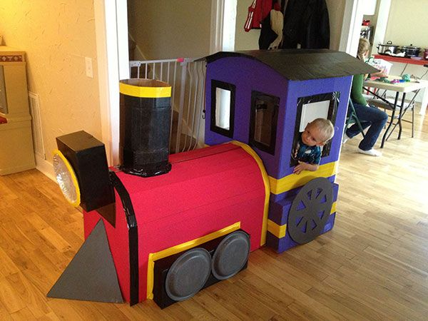Cardboard Train - some people are way too crafty