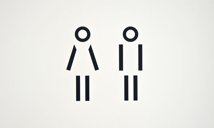 Buro4 | Fischer Property Management toilet I picto I pure I black I lines I woman vs. man