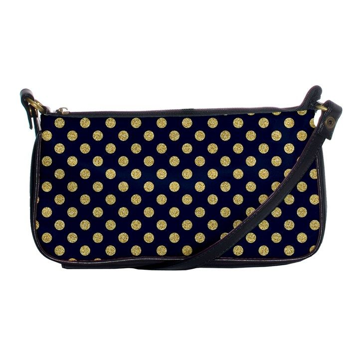 Navy/Gold Polka Dots Shoulder Clutch Bags