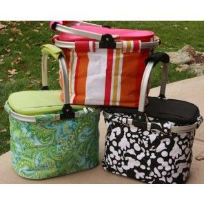 Monogrammed Picnic Coolers - Many Styles - **JUST ADDED NEW April Cornell Turquoise Floral - its so cute!  From In This Very Room.com !