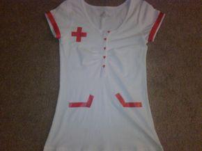 Último momento disfraz de enfermera sexy