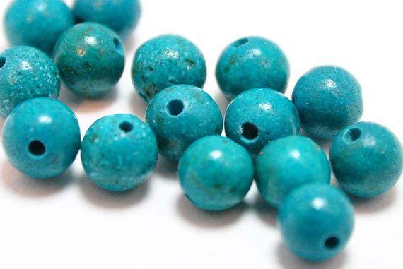 40 Stück Türkis Farbe Kunststoff Schmuck Bead von NickNackSupplies