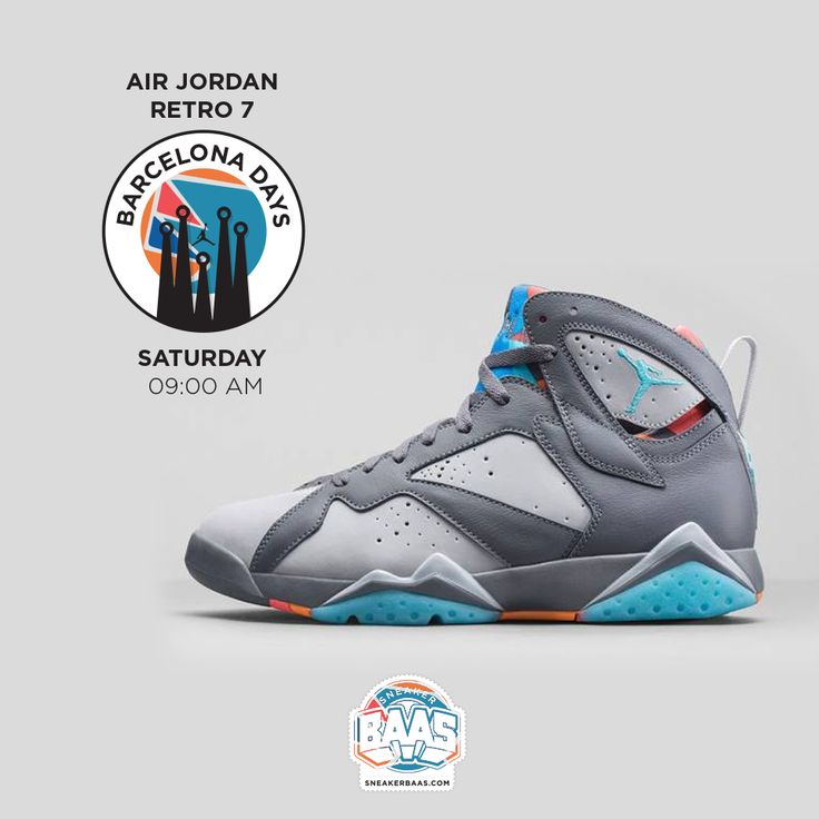 "#jordan #jordanbarcelona #jordanVII #sneakerbaas #baasbovenbaas  Jordan Air VII Retro ""Barcelona Days"" - This staurday 09:00 AM - Girl & Men!  For more info about your order please send an e-mail to webshop #sneakerbaas.com!"