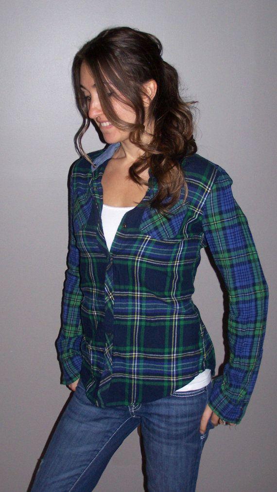 hand tailored women's flannel shirt