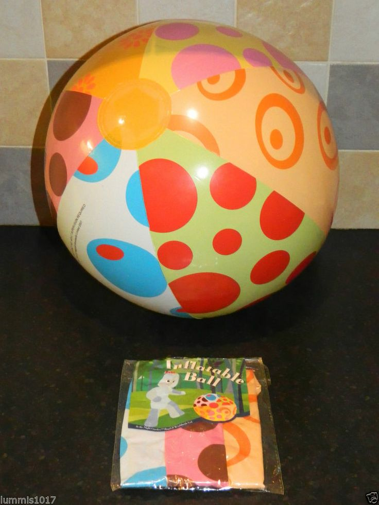 In The Night Garden Iggle Piggle Inflatable Ball Brand
