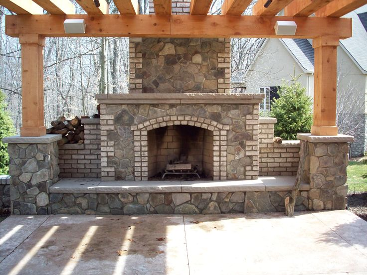 11 best outdoor fireplace images on pinterest | outdoor stone ... - Patio Ideas With Fireplace
