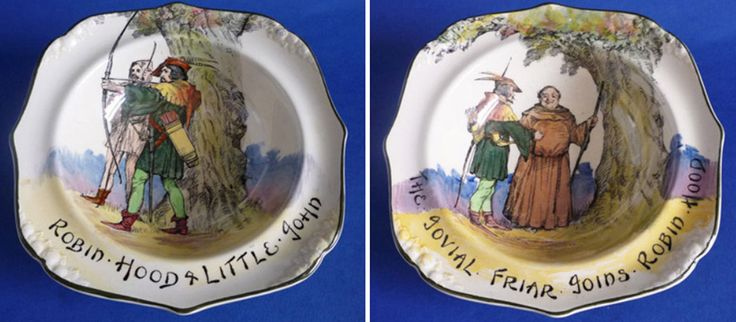 Royal Doulton Under the Greenwood Tree - Robin Hood Fruit Set c1929