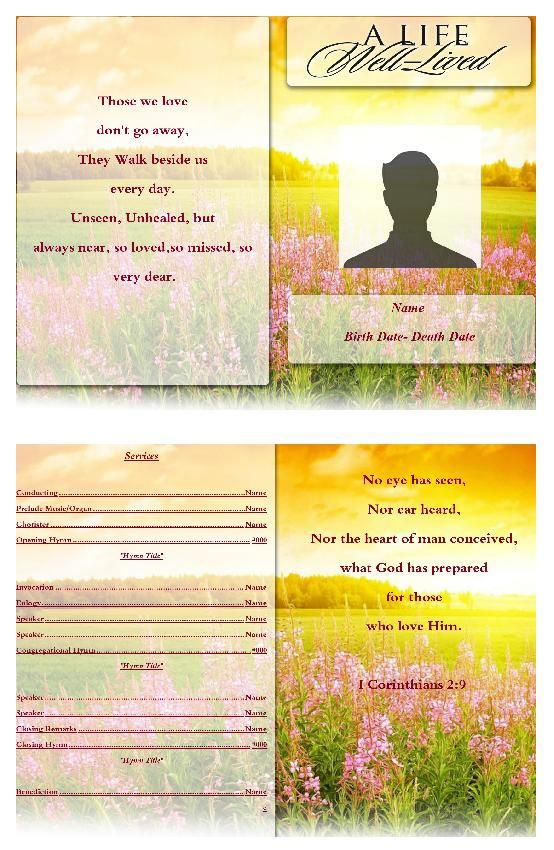 91 best Funeral Program Template images on Pinterest Christmas - download funeral program templates