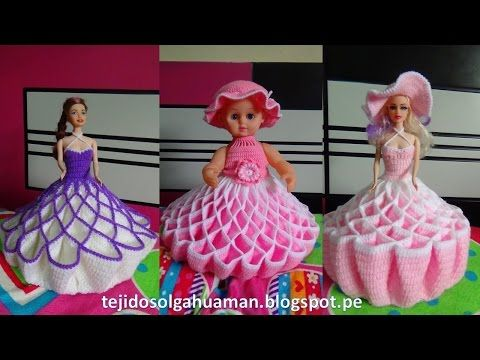 vestido tejido a crochet para muñeca, video 1 - YouTube