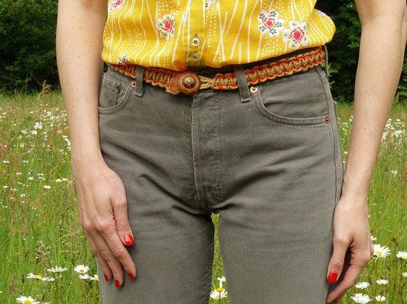 Ceinture vintage ceinture tressée ceinture par Vintage Signature sur Etsy vintage braided belt