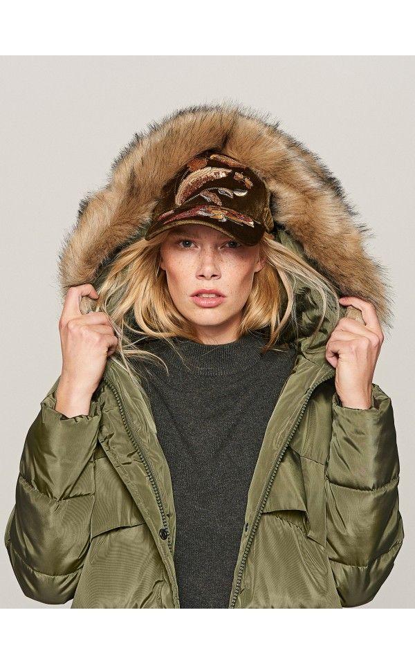 Knee Length Duvet Coat Outerwear Green Reserved Duvet Coat Winter Jackets Autumn Winter Fashion