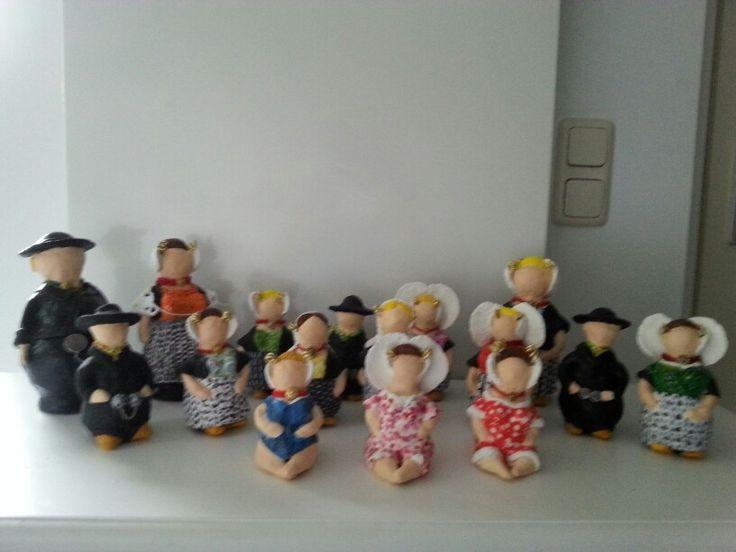 Zelfgemaakte poppen