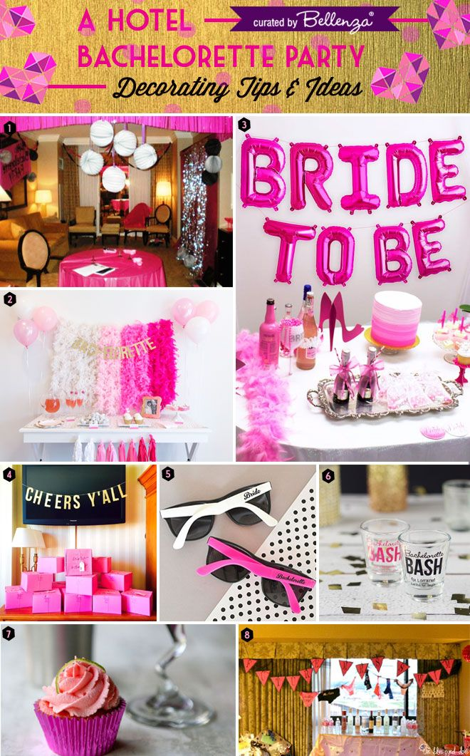 Party with your BFFs! It's a Hotel Bachelorette Party: http://www.bellenza.com/wedding-ideas/decorate/hotel-bachelorette-party-decorating-tips-ideas.html #bacheloretteparties #bachelorette