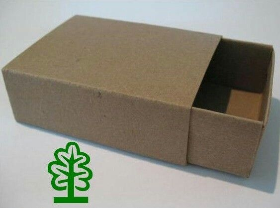 """Jumbo Kraft Chipboard Matchbox- 3 5/8"""" X 2 5/8"""" X 1 1/8"""""""